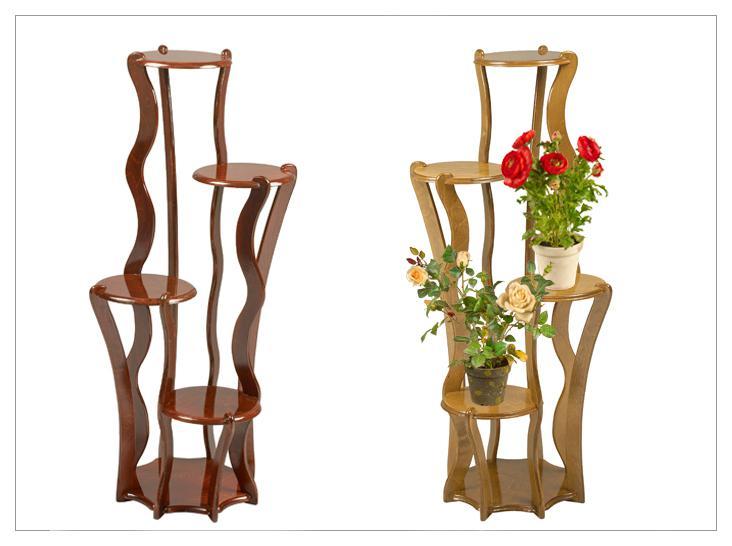 Стойки для цветов напольные деревянные