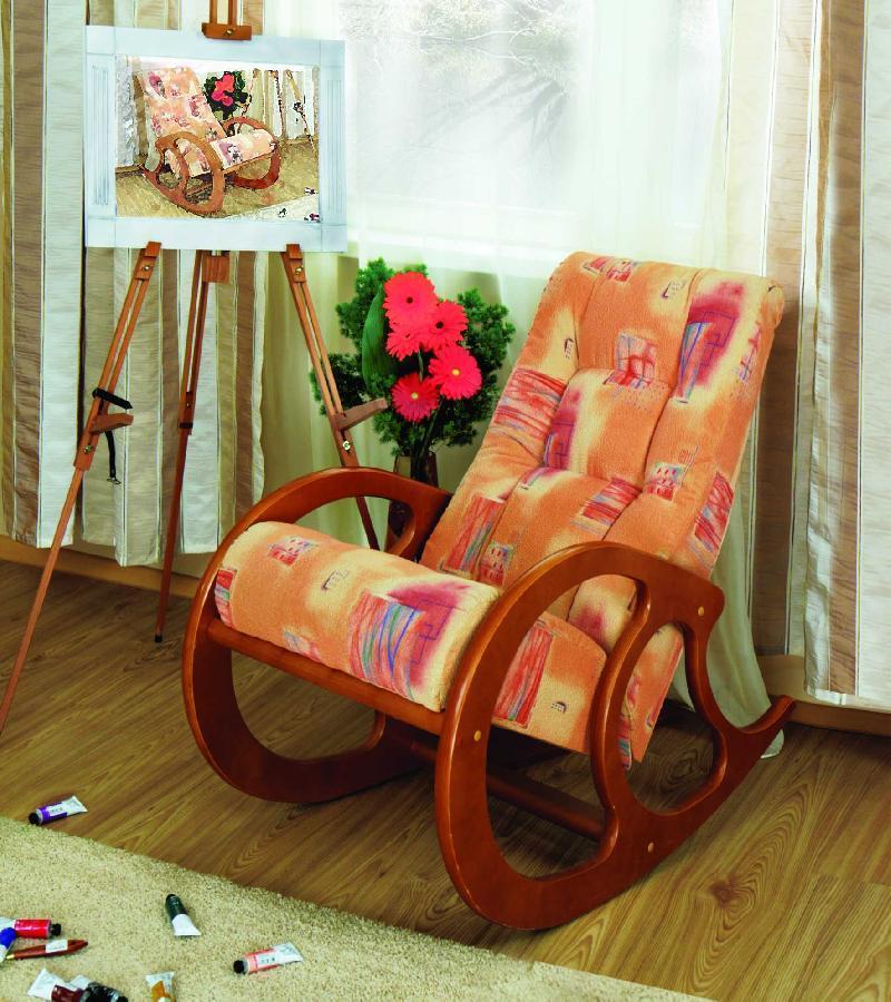 Красивые кресла качалка своими руками