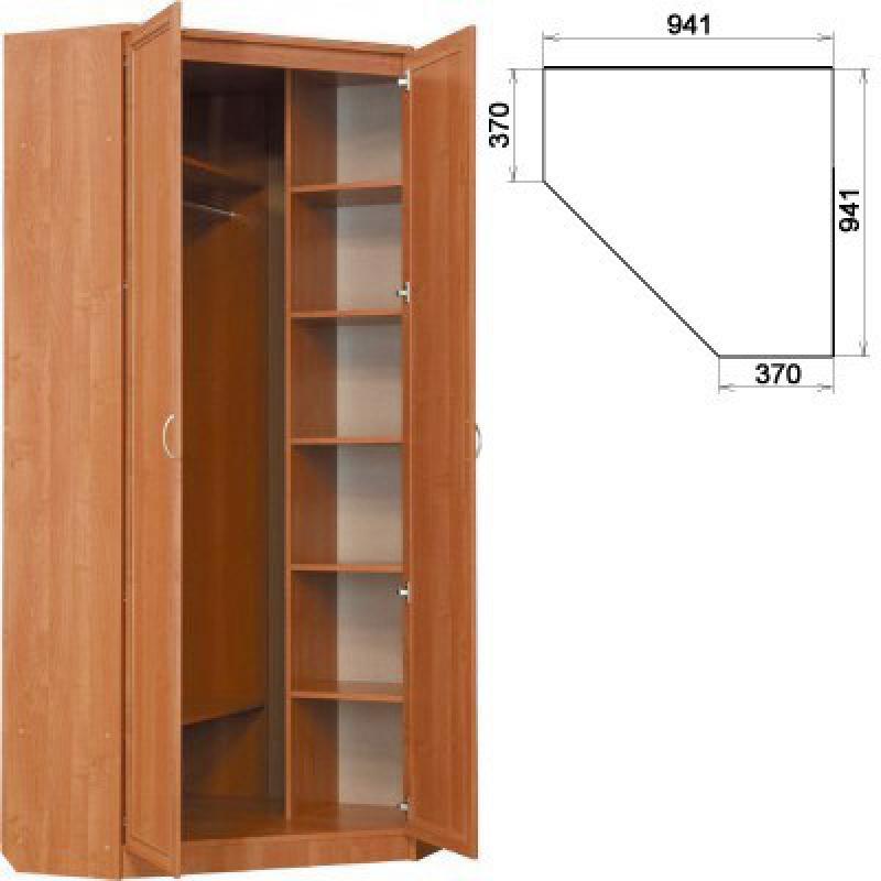 Угловой шкаф с полками фото
